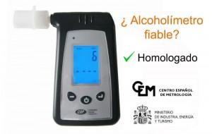 Alcoholimetro fiable homologado